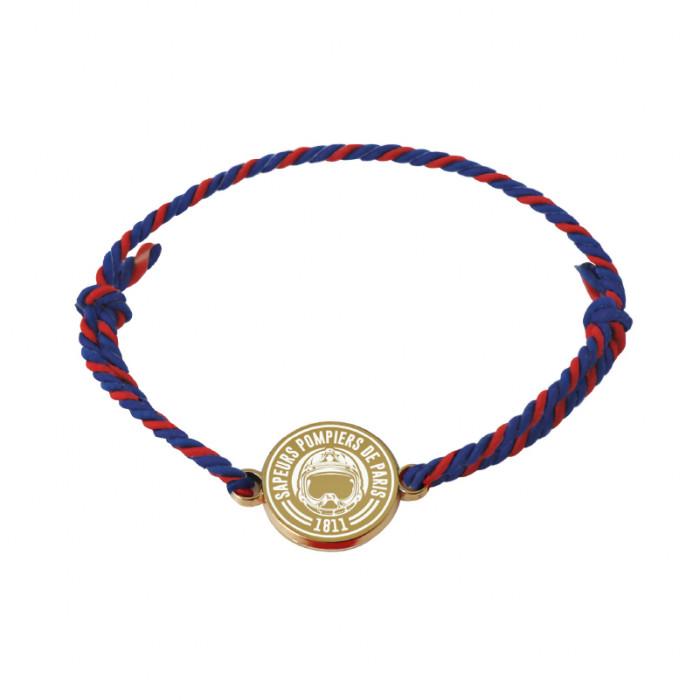 Bracelet médaille dorée et blanche Pompiers de Paris