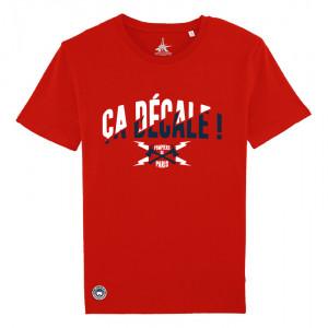 """T-shirt rouge """"Ça décale!"""""""