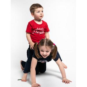 """T-shirt enfant rouge """"Futur petit pompier"""""""