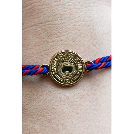 Bracelet médaille dorée Pompiers de Paris